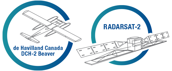 Image of Havilland Beaver and RADARSAT-2